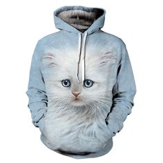 Lovely Cat Printed 3D Men Hoodies Women Sweatshirts Hot Sale Autumn Winter Hooded Pullover Casual Tracksuit Brand Jacket M-3XL