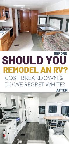 This DIY RV remodel can also be done on a super tight budget. We'll show you what worked and what didn't so you can plan an amazing totally white RV renovation that will stand the test of time. You can makeover yourself for cheap even if you're an amateur. This post includes do it yourself tutorials and everything we used to get these incredible results. From a 20 year old heap to an amazing monthly camping vacation. Trailer Diy, Travel Trailer Remodel, Diy Trailer Interior, How To Remodel A Camper, Motorhome, Jayco Travel Trailers, Rv Upgrades, Diy Rv, Rv Redo