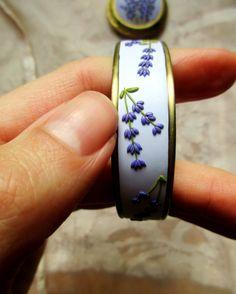 Made to order Lavander polymer clay Bracelet handmade jewelry