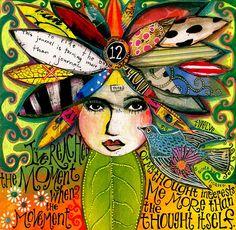 Teesha Moore's art journal page. Inspiring, as always.