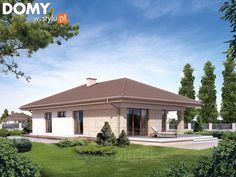 Neptun 5 projekt domu - Jesteśmy AUTOREM - DOMY w Stylu Villas, My House Plans, Elements Of Art, Gazebo, Outdoor Structures, House Design, How To Plan, Mansions, House Styles