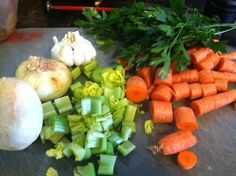 Add the vegetables- how to make bone broth