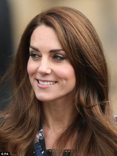 Earlier in the day, Kate wore her hair in a ponytail but she later undid the hairstyle and...