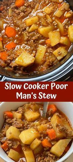Beef Stew Crockpot Easy, Crockpot Dishes, Slow Cooker Beef, Crock Pot Cooking, Beef Dishes, Cooking Recipes, Crock Pots, Stew Recipe Slow Cooker, Simple Beef Stew