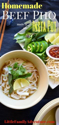 Looking for a great Instant Pot Meal? This recipe for Beef Pho is a definite crowd pleaser. The fragrant broth will really make your taste buds sing and get the family running to the dinner table. Instead of spending all day in the kitchen created this de Pressure Cooker Pho, Easy Pressure Cooker Recipes, Instant Pot Pressure Cooker, Slow Cooker Recipes, Beef Recipes, Real Food Recipes, Soup Recipes, Healthy Recipes, Pressure Cooking