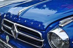 Blue shinny car