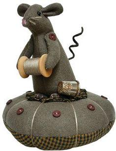 Pin Cushion - Mouse Thread Thimble - Primitive Country Sewing Playstation http://www.amazon.com/dp/B00BK68QVS/ref=cm_sw_r_pi_dp_XPahub0AYKKXH