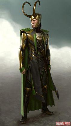 Loki concept art by Charlie Wen from Marvel's The Avengers