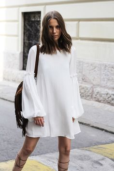 White summer dress sleeves