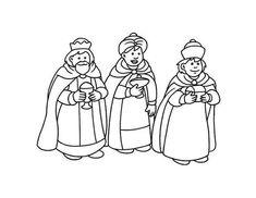 dibujos de los reyes magos para colorear