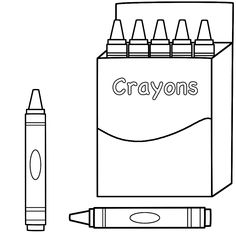 crayon themed coloring page