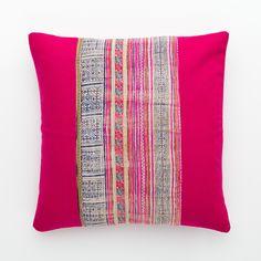Vintage Hmong Pillow | Pink Wool