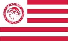 ΣΗΜΑΙΕΣ :: ΑΘΛΗΤΙΚΕΣ :: ΟΛΥΜΠΙΑΚΟΣ - σημαίες, λάβαρα, κύπελλα, έπαθλα Soccer Flags, Sports Flags, Flags For Sale, Monkey Art, Custom Football, Custom Flags, Flag Logo, Canoe And Kayak, Mirror Image