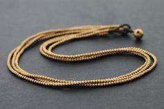3 Strand Simple Brass Necklace