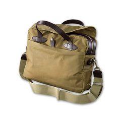The Tin Cloth Original Briefcase in Tan - $325.00