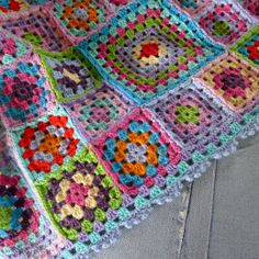 Mias Landliv: granny squares