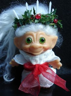 It's kitschy but I like it: Santa Lucia troll for Christmas