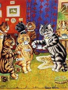 Louis Wain Cat Tea Party