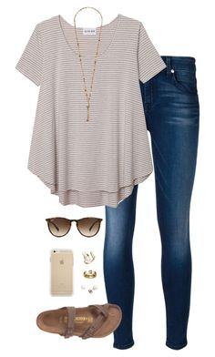 this makes me so so happy by tessorastefan on Polyvore featuring polyvore fashion style Olive + Oak 7 For All Mankind Chan Luu Kendra Scott J.Crew Ray-Ban clothing