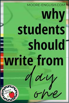 Writing is an essential part of the language arts classroom, so it's important to get to know students as writers from day one. With these 5 back to school writing ideas, teachers can engage students, spark creativity in student writers, and get a sense of students' writing abilities. Try these 5 ideas during the first week of school to learn about students' technical skills, organizational skills, and use of evidence. Writing Resources, Writing Skills, Writing Activities, Teaching Writing, Back To School Writing Ideas, Student Debt Relief, Classroom Management, Classroom Organization, Organizing