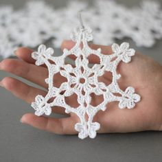 Crochet Christmas ornaments, snowflakes Christmas decoration,Christmas snowflake, set of 6 Cristmas ornaments, crochet snowflake decoration, tree decoration Set of 6 crochet snowflakes. Handmade Christmas ornaments made with high quality cotton thread in smokefree and petfree environment. Each snowflakes measures 4.7x 4.7 approx. (12 cm x 12 cm) Starched to keep them in shape. For other crocheted items, please visit my shop: https://www.etsy.com/shop/SevisMagicalStitches?ref=l2-shophead...