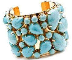 Multi-Sized Turquoise Stone Cuff
