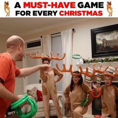 Inflatable Reindeer Party Game Hurry, before it is gone! Description: Perfect for Christmas, Pool or Birthday Parties - Increase the fun with this cool Inflatable Reindeer Party Game Set. Fun Christmas Party Games, Xmas Games, Christmas Games For Family, Holiday Games, Xmas Party, Christmas Activities, Family Games, Kids Christmas, Christmas Gifts