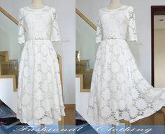 black white lace long dress large size dress by FashionalClothing