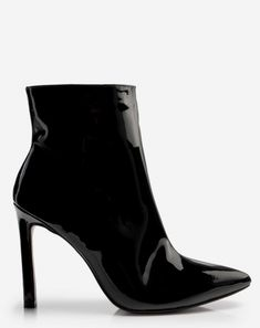ec368006fd Bota Vinil Preta - Tendências de Sapatos de Inverno! Botas Pretas Femininas