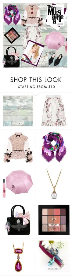 """Playing Dress-Up"" by rita257 ❤ liked on Polyvore featuring Wall Pops!, Brock Collection, Reem Acra, Chanel, David Yurman, My Flat In London, NYX and Silvana"