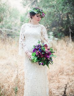 Lace wedding dress from Dreamers & Lovers