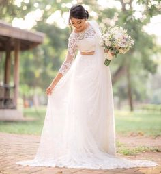 iBRIDE by INDI is part of White saree wedding - You can find White saree and more on our website.iBRIDE by INDI is part of White saree wedding - White Saree Wedding, Indian Wedding Gowns, Modest Wedding Gowns, White Bridal, Indian Bridal, Bridal Dresses, White Sari, Christian Wedding Dress, Christian Bridal Saree