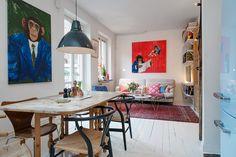 Visite d'un appartement suédois mêlant décoration scandinave et bohème