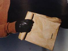 Jil Sander Leather paper bag. For just £155. ;)