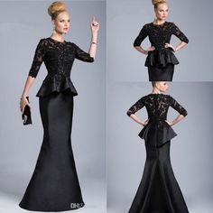 Groom Mother Dress For Wedding Vintage 2015 Black Mother Of The Bride Sheer Half Long Sleeves Lace Beaded Peplum Sheath Formal Dresses Evening Gowns Vestido Formales 510 Mothers Dress For Wedding Plus Size From Beautydesign, $112.62| Dhgate.Com