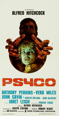 Psycho (1960). Italian poster.