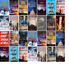 """Wednesday, April 19, 2017: The Hudson Public Library has nine new bestsellers and eight other new books in the Mysteries & Thrillers section.   The new titles this week include """"The Fix,"""" """"Fast and Loose,"""" and """"Fallout: A V.I. Warshawski Novel."""""""