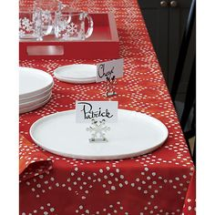 Snowflake Place Card Holder in Place Card Holders | Crate and Barrel