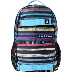 Head to class or on a daytime adventure with the Treble Yell backpack from Burton. This lightweight pack features a colorful painted striped pattern with blue accent straps that can hold a skateboard or sweatshirt. Featuring mesh water bottle pockets, laptop sleeve, and tons of storage you can carry all your gear and then some wherever you go. The two front pockets are perfect for supplies and tools for your trip so you can be fully prepared. The Burton Palette Strip Treble Yell backpack is…