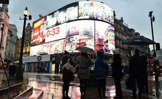 Piccadilly Circus lights before the switch off