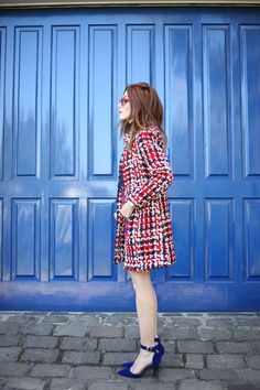 FashionCoolture - 03.08.2016 look du jour red navy blue stripes (3)