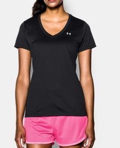 Shop Women's Under Armour Black size M Tops at a discounted price at Poshmark. Description: Basically brand new Under Armour Tech V-Neck in excellent condition! Worn maybe once. Under Armour Femme, Under Armour Women, Ted Baker, T Shirts, Tees, Athletic Women, Workout Tops, Workout Gear, Short Sleeve Tee