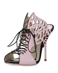 Kimimi Lace-Up Butterfly Sandal by Sophia Webster at Neiman Marcus.