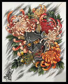 GET YOURS @printcult @printcult @printcult FOR BOOKING Flower Tattoo Sleeve Men, Flower Tattoo Foot, Flower Tattoo Shoulder, Full Sleeve Tattoos, Japanese Chrysanthemum, Chrysanthemum Tattoo, Tattoo Designs For Girls, Flower Tattoo Designs, Japanese Demon Tattoo