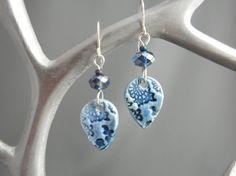 Sparkle handmade ceramic earrings 4735 by SlateStudiosSupply