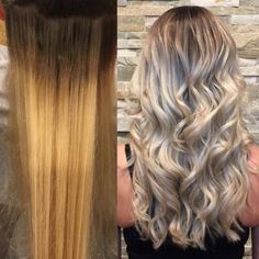 Melissa Grace Smith (@sweetmelissagrace), a hairstylist at Roots Hair Loft, Jensen Beach, Florida, specializes in color correction and expertly blending dimension for soft, wearable hair color of any shade, natural or vivid. When we saw this transformation on Instagram, we asked for more information. Here she shares the HOW TO: Formula A: Wella Freelights and 40 volume Formula B: Redken Shades Eq 9V Formula C: Goldwell Colorance 6N and 6A equal parts