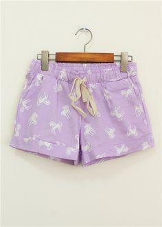 Unicorn shorts from CandyFrizz Stars