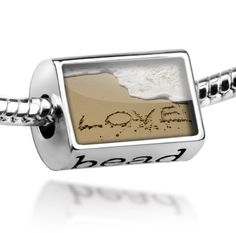 "Beads ""Love, love, beach"" - Pandora Charm & Bracelet Compatible $18.99"
