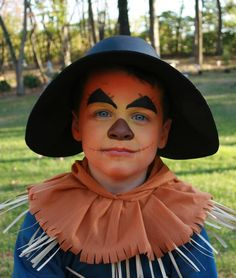 The Wizard of Oz Scarecrow make up:)