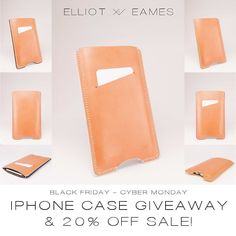 The fun continues!!! Here's your chance to win an E&E iPhone case or iPhone Wallet with YOUR CHOICE of signature edge color (value: $280-295)!!! Follow the instructions below and a winner will be announced on Tuesday November 29!  Complete these three steps:  1) like this photo! 2) follow @elliotandeames 3) Spread the love: tag 2 friends you think might be interested (that haven't been tagged already ;)! And that's it! And as a massive thank you to all my Instagram followers old and new use…